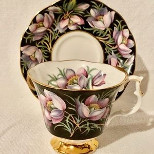 Provincial Flowers Prairie Crocus Teacup China